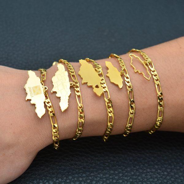 Bracelet Carte de la Jamaïque