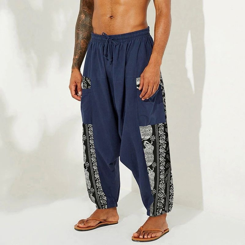 Pantalon Sarouel Streetwear bleu - rastafarishop.fr