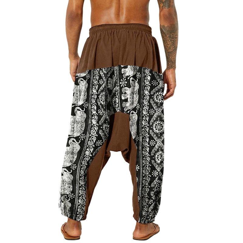 Pantalon Sarouel Streetwear marron arrière - rastafarishop.fr