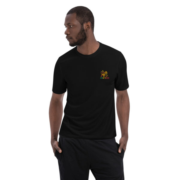 embroidered champion performance t shirt black front 60706656ea137