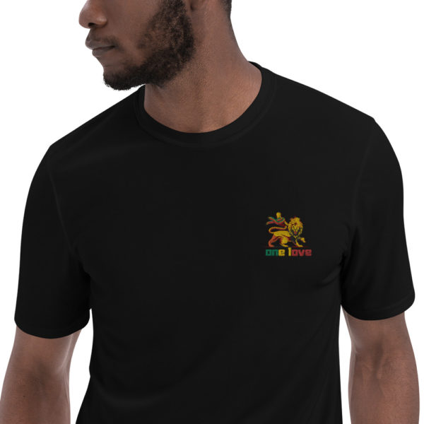 embroidered champion performance t shirt black zoomed in 60706656ea3cd