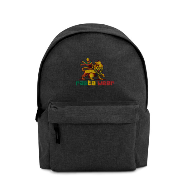 embroidered simple backpack i bagbase bg126 anthracite front 607065a3d3ce9