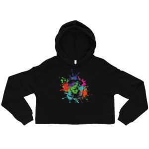 womens cropped hoodie black front 606caf4c71e7f