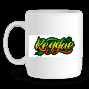 Mug en Céramique Reggae - BLANC - Profil gauche