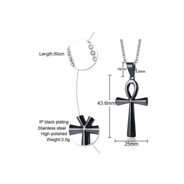 Collier Pendentif Croix d'Ankh - bijoux rasta - rastafarishop.fr