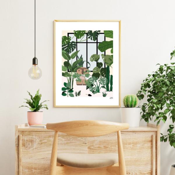 affiche deco plantes jungle deco boheme