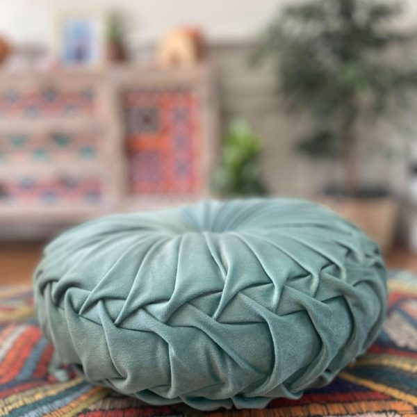 coussin rond velours