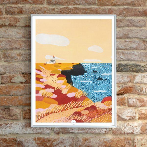 Affiche déco Océan de Belle-Ile boheme illustration
