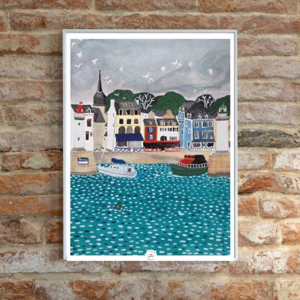 Affiche déco Le port de Belle-Ile boheme