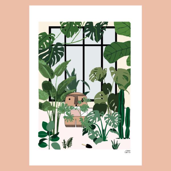 Affiche déco Visage Abstrait Jungle boheme