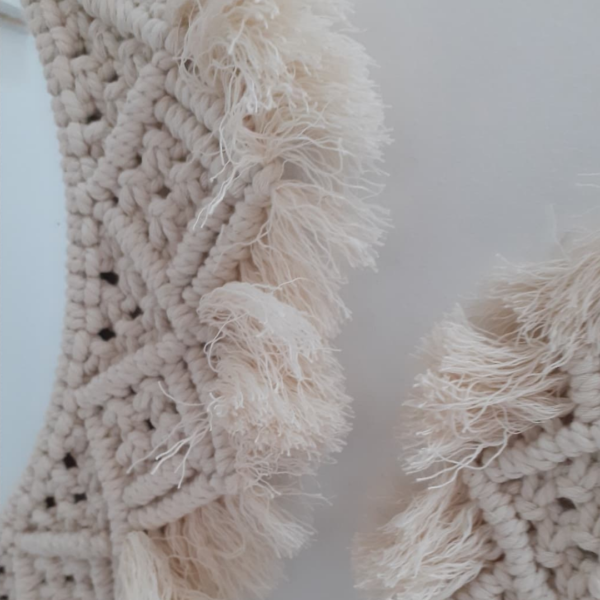 Miroirs Macramé Blanc zoom