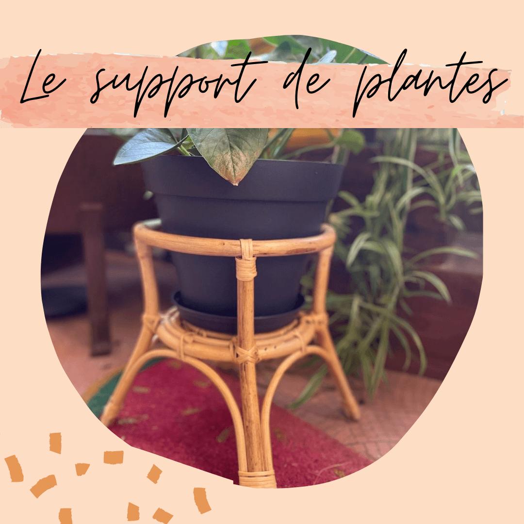 SUPPORT DE PLANTES ROTIN