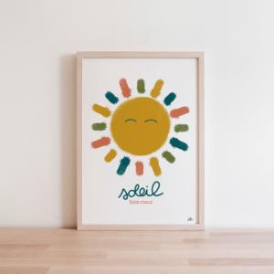 affiche colorée soleil