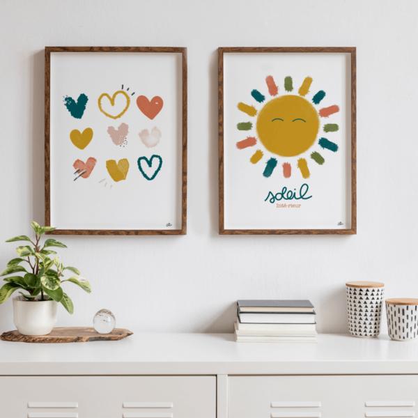 affiche colorée chambre enfants boheme