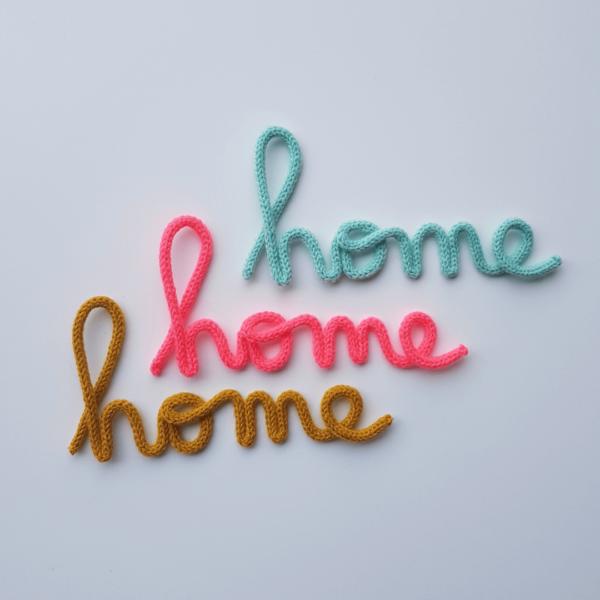 mot en tricotin home mot decoratif couleurs