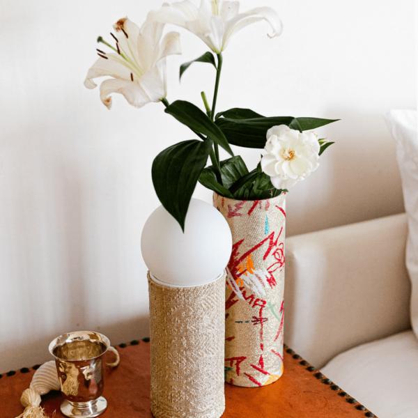 vase decoratif ethnique tissus eco responsable