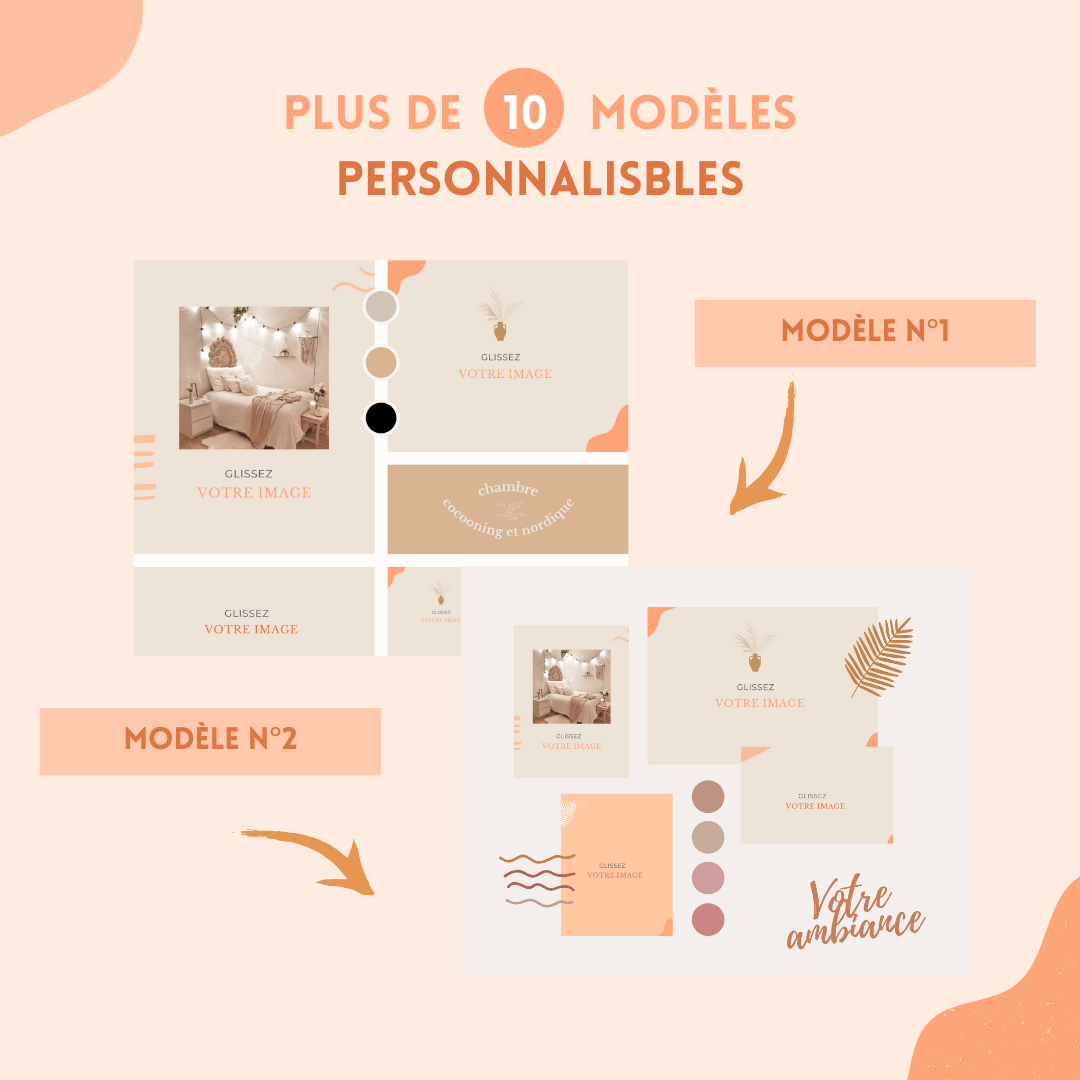 planche ambiance personnalisable moodboard ebook