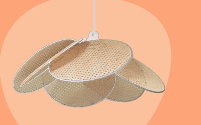 3 façons de décorer avec une suspension en rotin et cannage