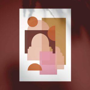 Affiche Marrakech bohème terracotta - Coucher de soleil