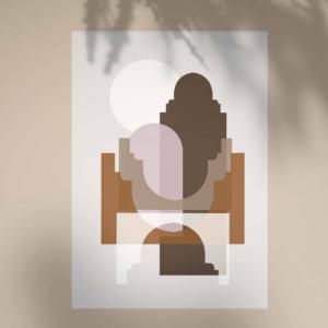 Affiche Marrakech bohème - Marron & Sable