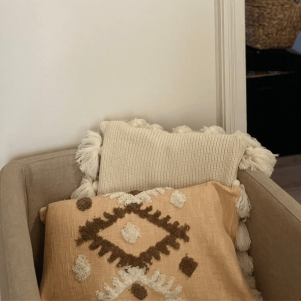 Housse de coussin bohème terracotta/ marron motifs maroc inspiration chambre salon boheme