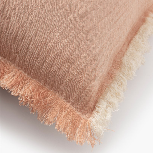 Housse de coussin rose poudré terracotta coton 100% agréable chambre terracotta salon terracotta