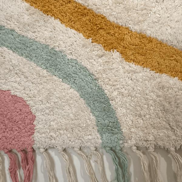 tissage boheme multicolore detail