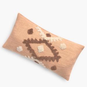 Housse de coussin bohème terracotta/ marron