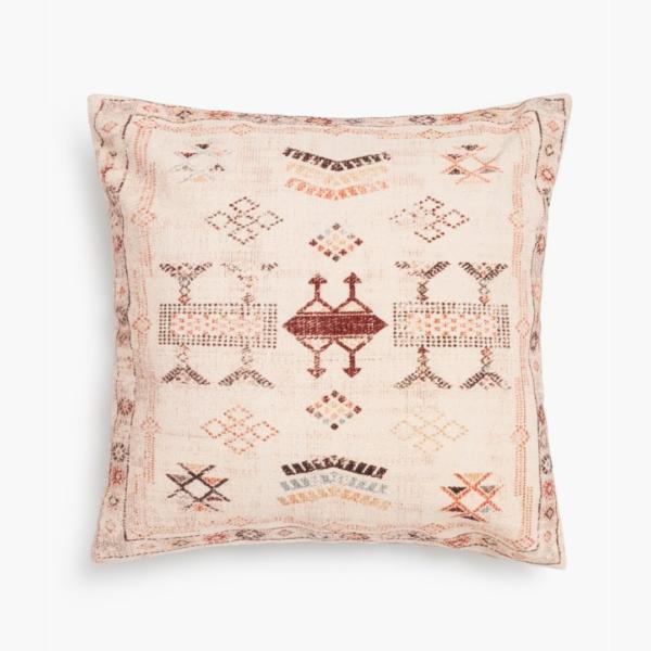 Housse de coussin terracotta marocaine