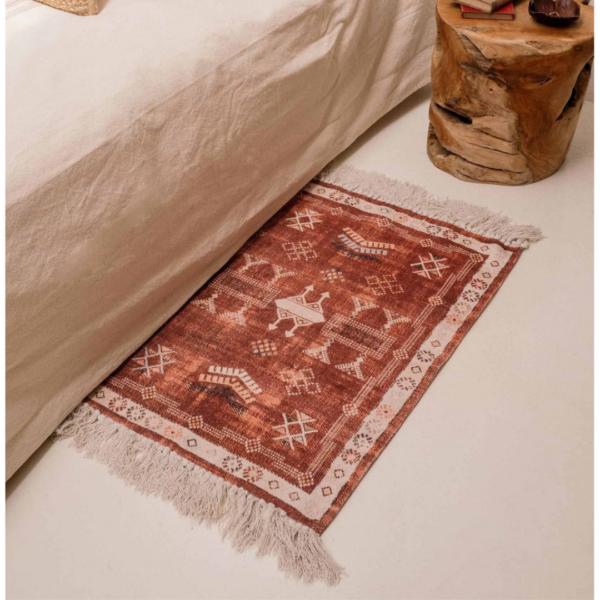 tapis boheme terracotta