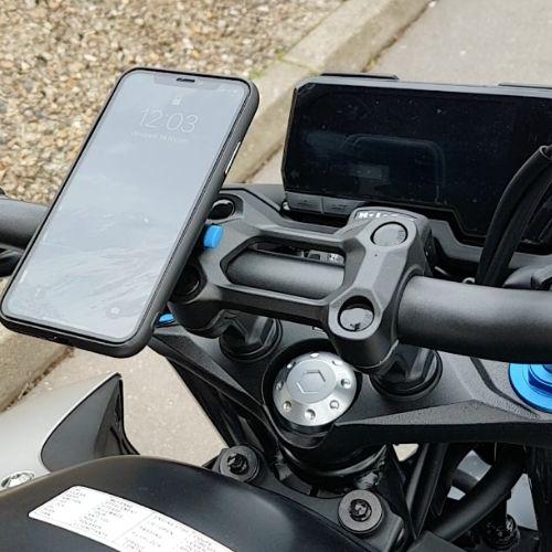 support téléphone smartphone moto ajustable clipandgo clip&go clip and go