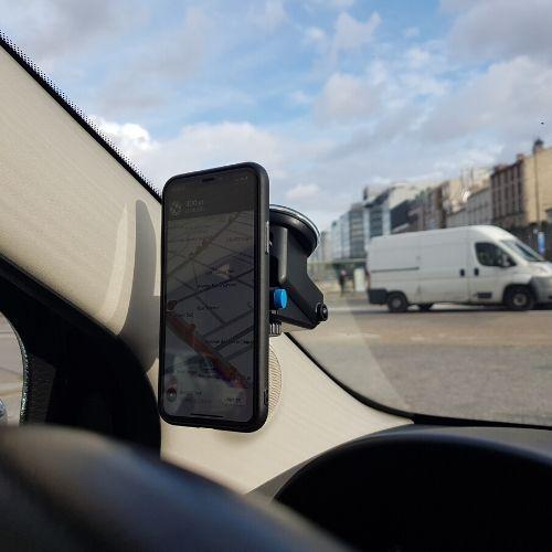 support téléphone smartphone voiture ventouse clipandgo clip&go clip and go