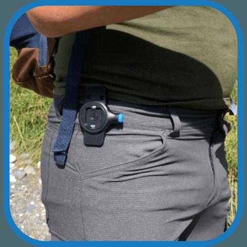 support téléphone smartphone ceinture clipandgo clip&go clip and go
