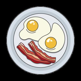 Oeuf au plat avec du bacon