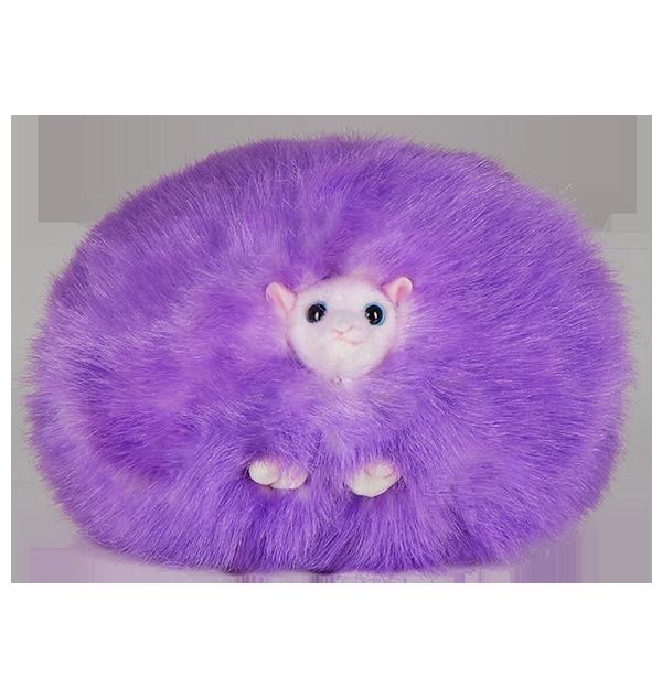Peluche pygmée violette avec son