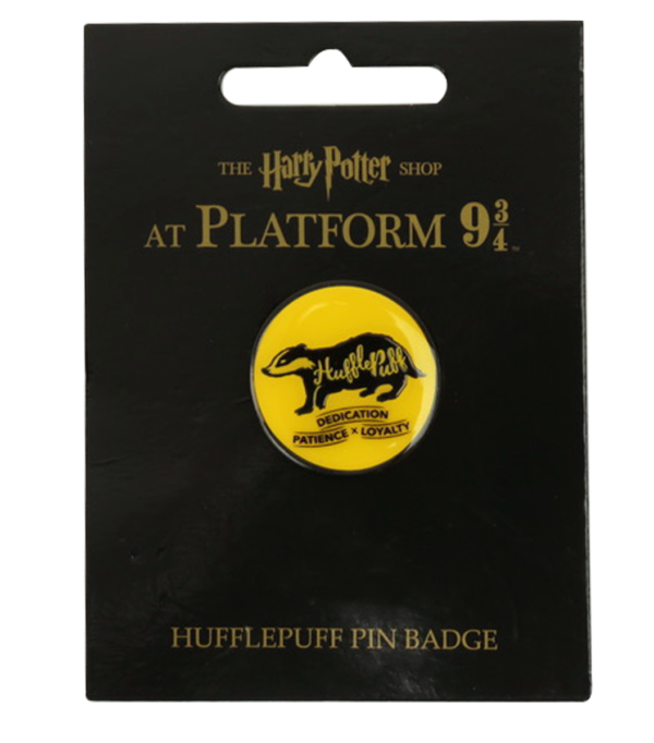 2019 Platform 934 Products Hufflepuff Pin Badge Boutique harry potter Badge Poufsouffle