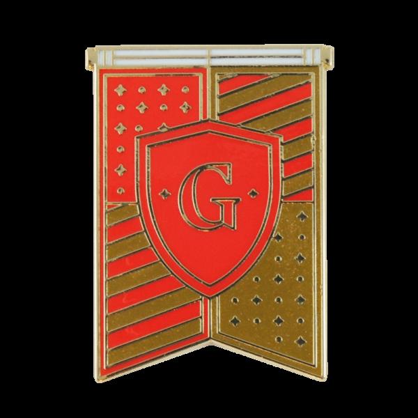 Pin émaillé bannière de la Maison Gryffondor
