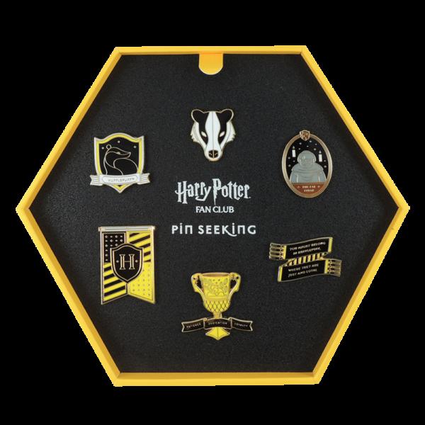 HPTPins Hufflepuff 03 Boutique harry potter Set d'épingles Poufsouffle Première édition