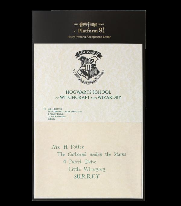 HP Letter 1 Boutique harry potter Lettre d'acceptation d'Harry Potter à Poudlard