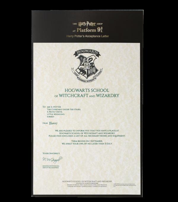 HP Letter 2 Boutique harry potter Lettre d'acceptation d'Harry Potter à Poudlard