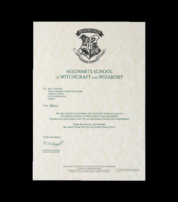 HP Letter 3 Boutique harry potter Lettre d'acceptation d'Harry Potter à Poudlard