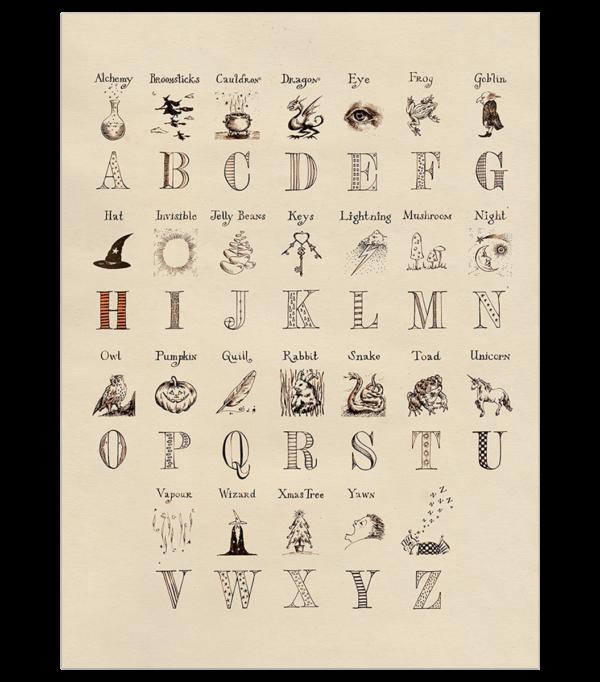 Poster alphabet Harry Potter