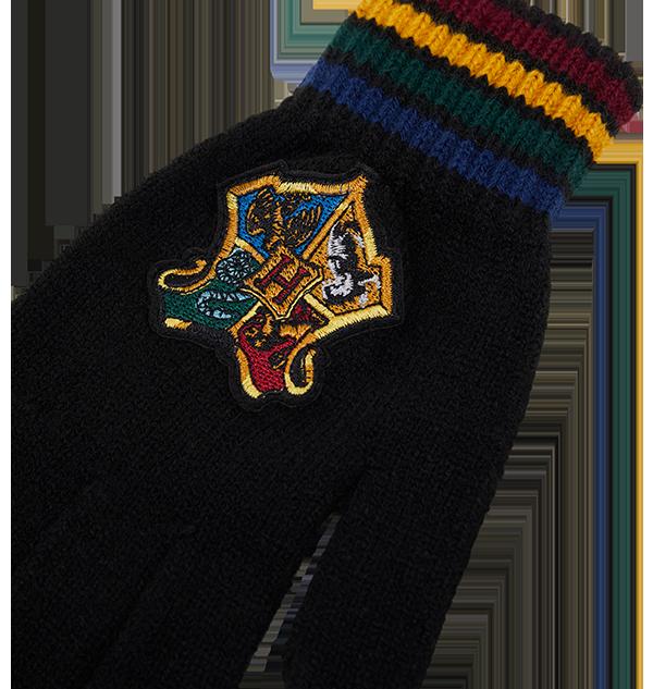 Hogwarts knitted gloves 1 2 Boutique harry potter Gants en tricot l'écusson école de Poudlard