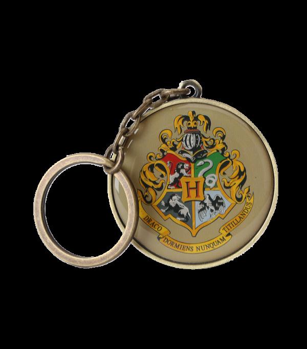 Hogwarts round crest keyring001 Boutique harry potter Porte-clés Poudlard à écusson rond