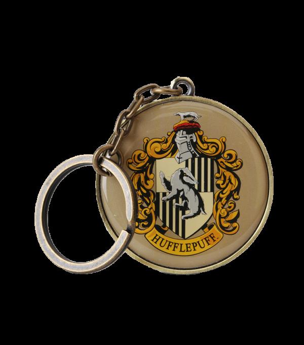 Hufflepuff round crest keyring001 Boutique harry potter Porte-clés rond Poufsouffle