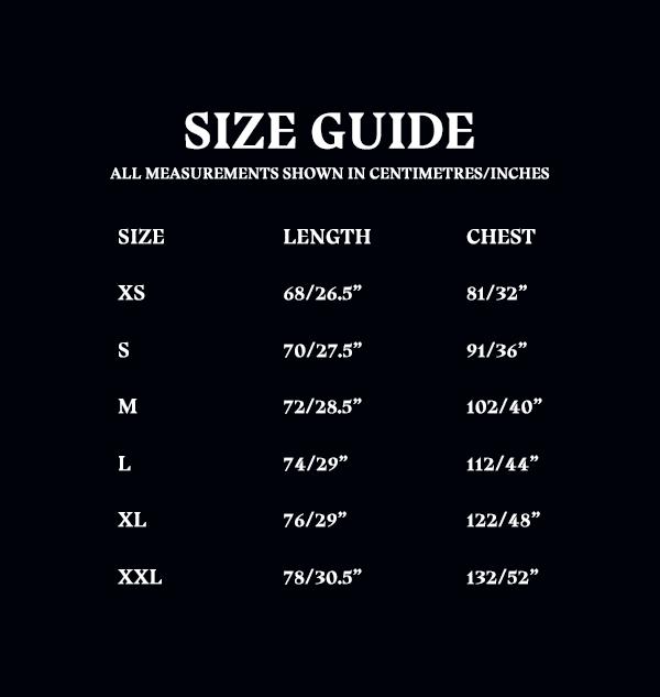 OLD Size Guide Unisex Adult Tshirt a7fc9a57 c685 47ea a4ff 5b6d9ca886bd Boutique harry potter T-shirt imprimé MinaLima Platform 9 3/4