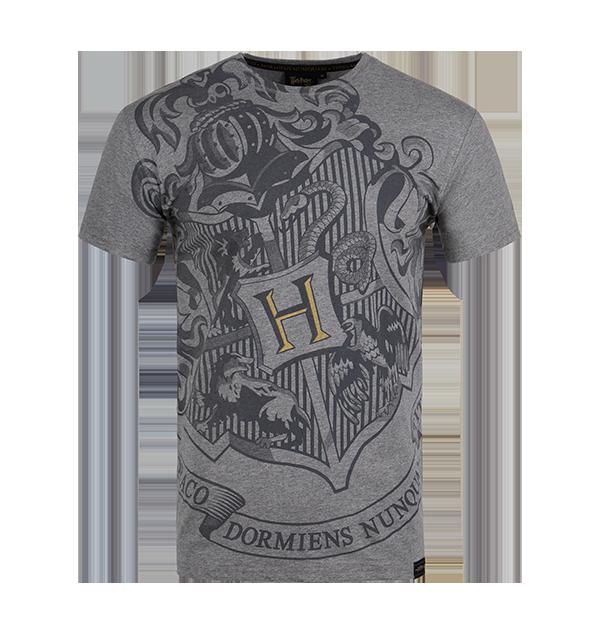T-shirt gris Poudlard Bold Crest