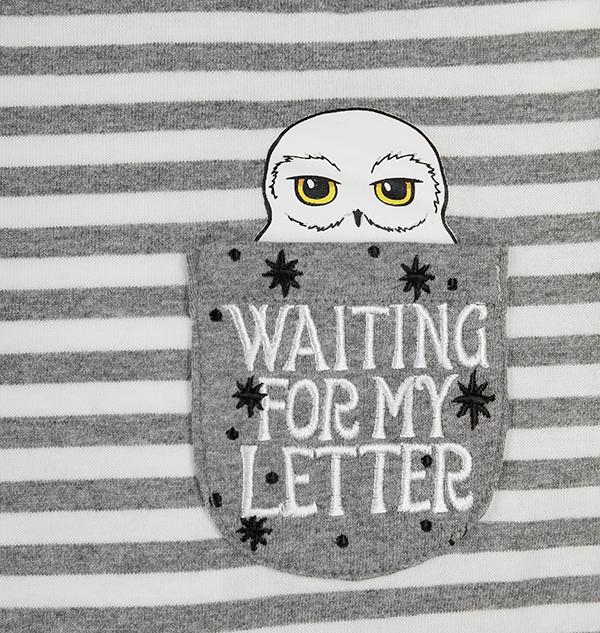PL00010098 3 Boutique harry potter T-shirt Pocket Hedwig pour enfants