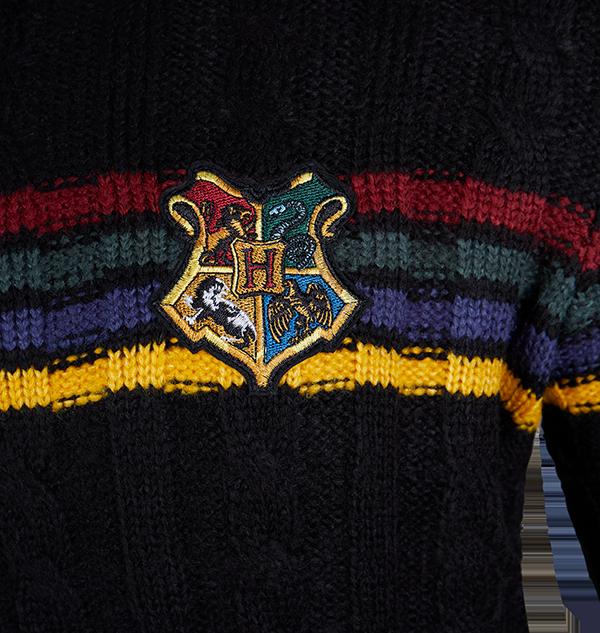 PL00010112 3 Boutique harry potter Pull en tricot avec l'écusson de Poudlard