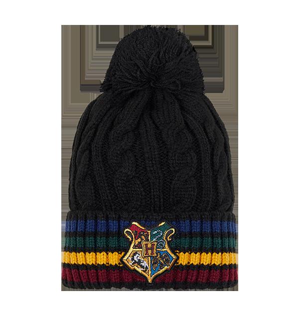 Bonnet tricoté écusson école de Poudlard
